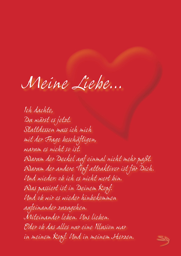 Gedicht liebe zweifel
